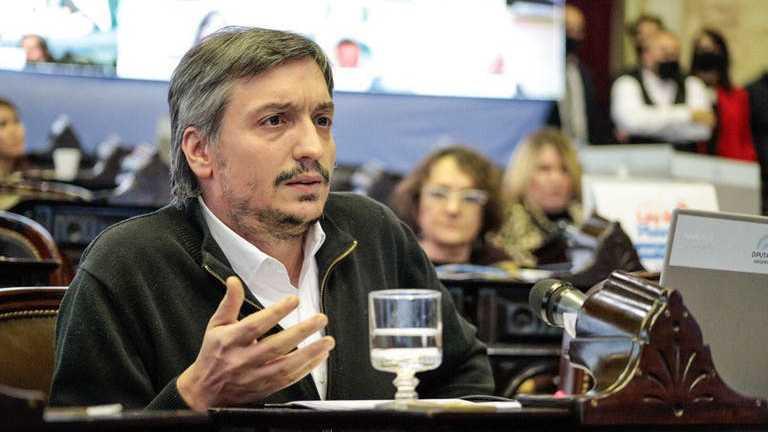 """Máximo Kirchner: """"La ley de 'zona fría' representa un cambio de paradigma"""""""
